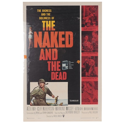 """""""The Naked And The Dead"""" Lithograph One-Sheet Film Poster, 1958"""