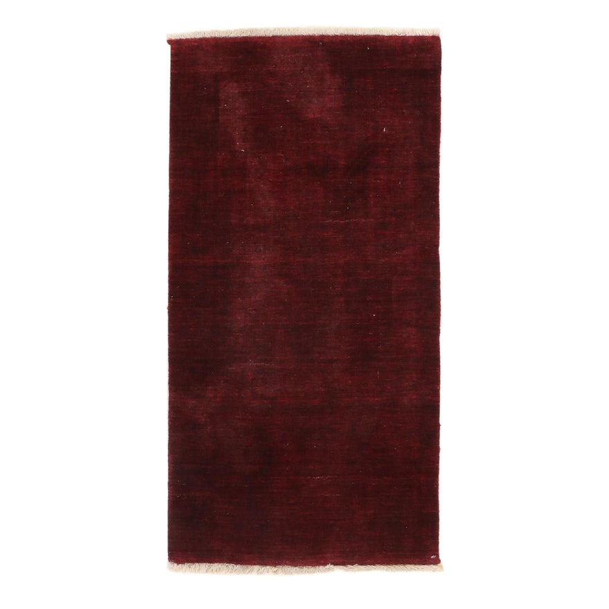 2'4 x 4'9 Hand-Knotted Indo-Persian Gabbeh Rug, 2000s
