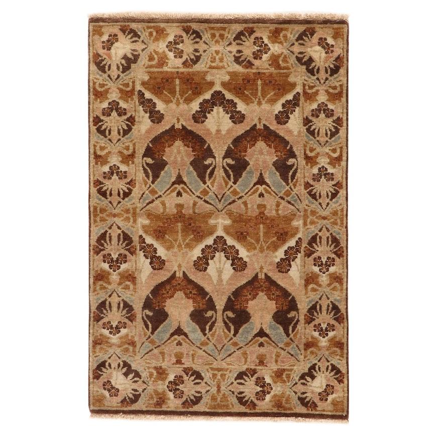 3'7 x 5'7 Hand-Knotted Pakastani Persian Tabriz Rug, 2010s