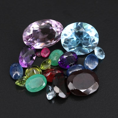 Loose 39.28 CTW Sapphires, Amethysts, Garnet and Gemstones