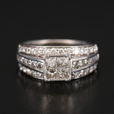 10K 2.00 CTW Diamond Multi-Row Ring