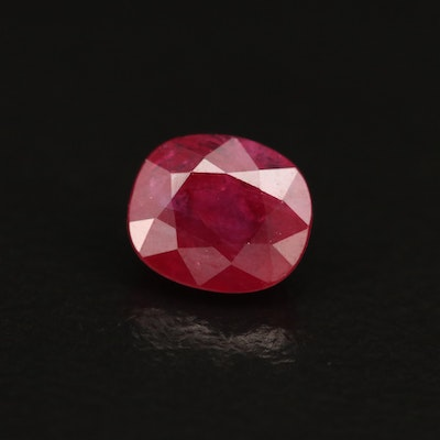 Loose 1.09 CT Oval Faceted Ruby