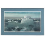 Eric Sloane Color Lithograph of Plane Above the Clouds, Mid-Late 20th Century