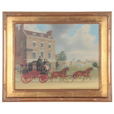 Giclée after George Hunt and James Pollard of Royal Postal Service Coach
