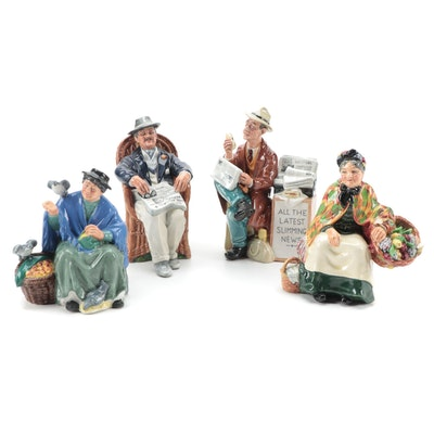 "Royal Doulton ""Stop Press,"" ""Tuppence a Bag"" and More Ceramic Figurines"