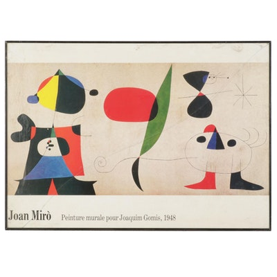 """Offset Lithograph After Joan Miró """"Joaquim Gomis,"""" Late 20th Century"""