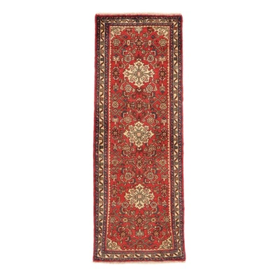 2'4 x 6'5 Hand-Knotted Persian Nahavand Carpet Runner, 1980s