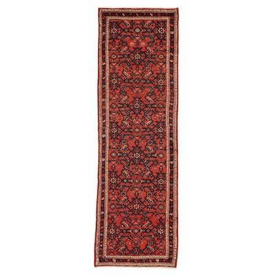 2'1 x 6'6 Hand-Knotted Persian Zanjan Carpet Runner, 1980s
