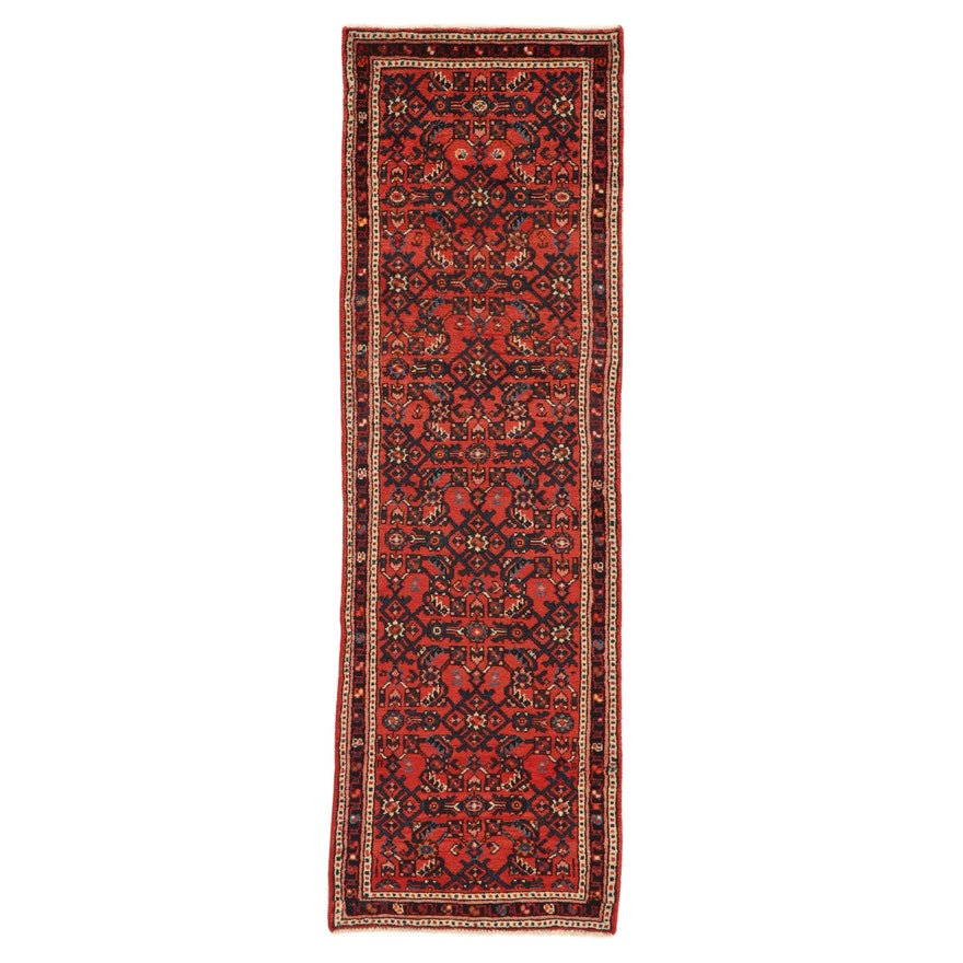 2'1 x 6'6 Hand-Knotted Persian Zanjan Carpet Runner, 1980s