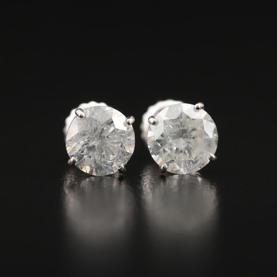 14K 1.80 CTW Diamond Stud Earrings