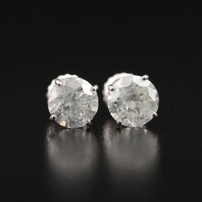 14K 1.80 CTW Diamond Stud Earrings