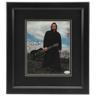 Johnny Cash Signed Photograph by Tamara Reynolds, JSA Full Letter COA