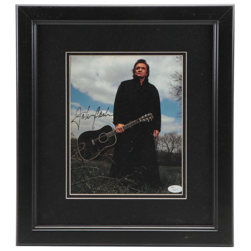 Johnny Cash Signed Photograph by Tamara Reynolds, JSA Full Letter COA