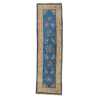 3'5 x 12'2 Hand-Knotted Chinese Peking Long Rug, 1930s