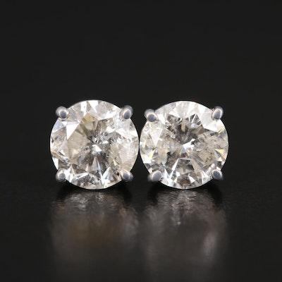 14K 3.12 CTW Diamond Stud Earrings