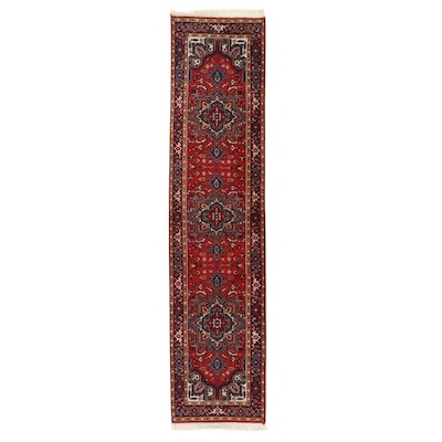 2'9 x 11'10 Hand-Knotted Indo-Persian Tabriz Carpet Runner, 2000s