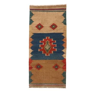 3'1 x 6'10 Handwoven Persian Kurdish Kilim Long Rug, 2000s
