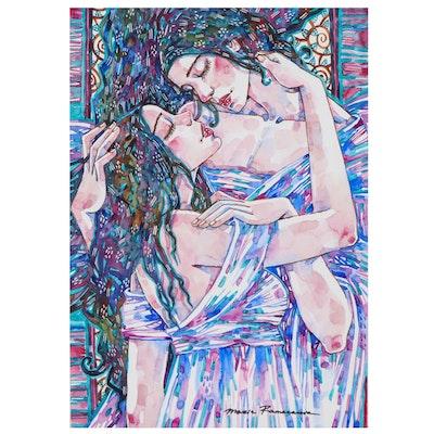 Maria Ramazanova Watercolor Painting, 2021