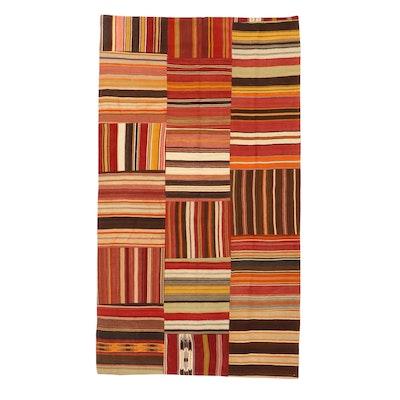5'8 x 10'1 Handwoven Turkish Kilim Patchwork Rug, 2000s