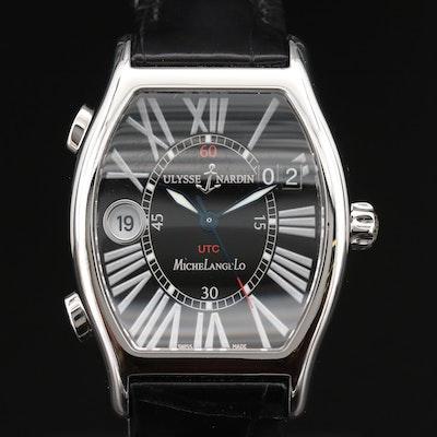 "Ulysse Nardin ""Michelangelo"" UTC Dual Time Stainless Steel Automatic Wristwatch"