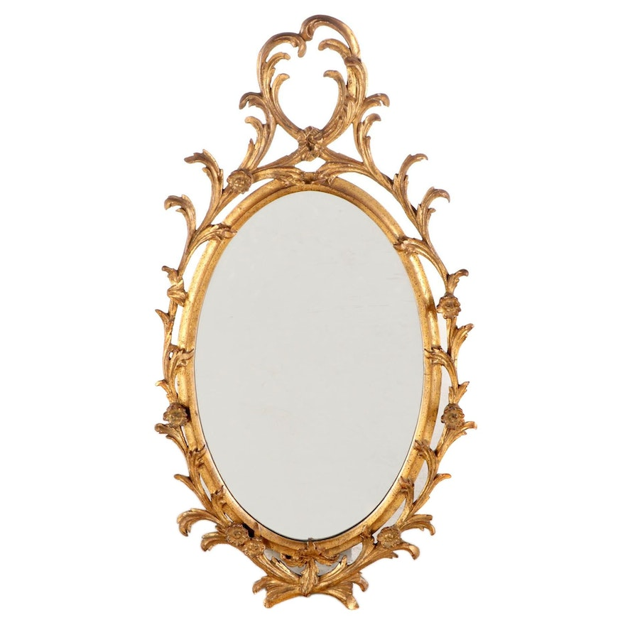 Regent Rococo Style Giltwood and Composition Mirror, Mid to Late 20th Century