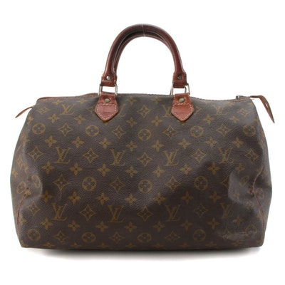 Louis Vuitton Speedy 35 Handbag in Monogram Canvas
