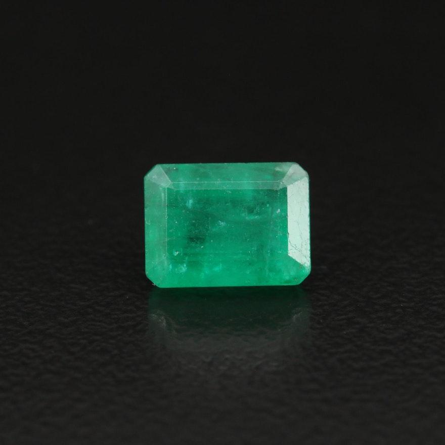 Loose 1.85 CT Rectangular Faceted Emerald