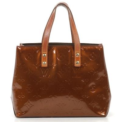 Louis Vuitton Reade PM Tote in Bronze Monogram Vernis Leather