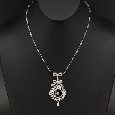 Edwardian Style 18K 2.00 CTW Diamond Necklace