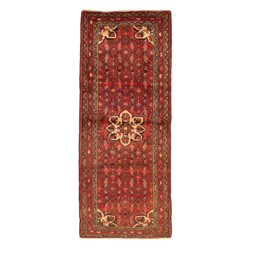 2'8 x 6'8 Hand-Knotted Persian Zanjan Carpet Runner, 1970s