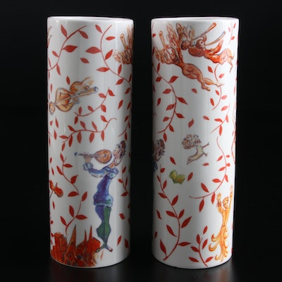 "The Metropolitan Opera Guild ""The Triumph of Music"" Vases after Marc Chagall"