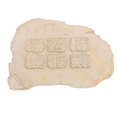 Replica of Mayan Bas-Relief Heiroglyphics