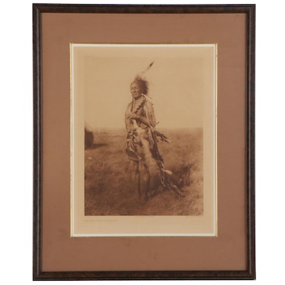 "Photogravure after Edward Sheriff Curtis ""The Old Warrior - Arapaho,"" 1927"
