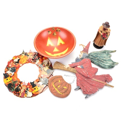Vaillancourt and Other Halloween and Thanksgiving Wall Hanging and Table Décor