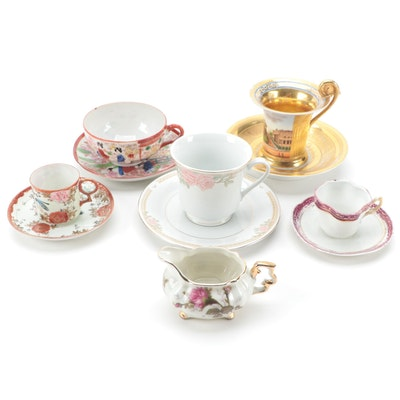 Truly Tasteful and Other Porcelain and Ceramic Teacups, Saucers and Creamer