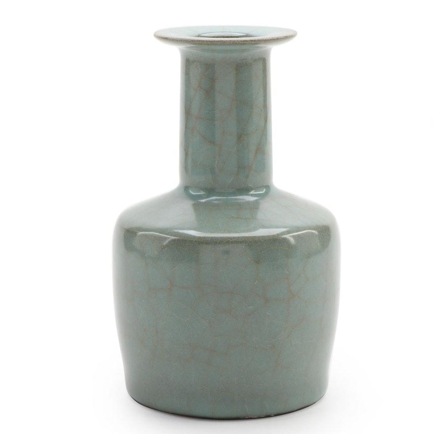 Chinese Celadon Stoneware Vase, Mid to Late 20th Century