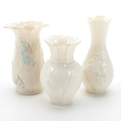 "Belleek ""Swan"", ""Bluebell"" and Other Porcelain Vase"