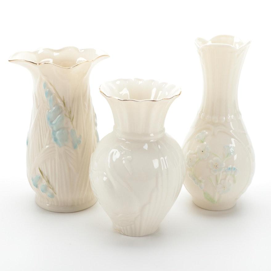 """Belleek """"Swan"""", """"Bluebell"""" and Other Porcelain Vase"""