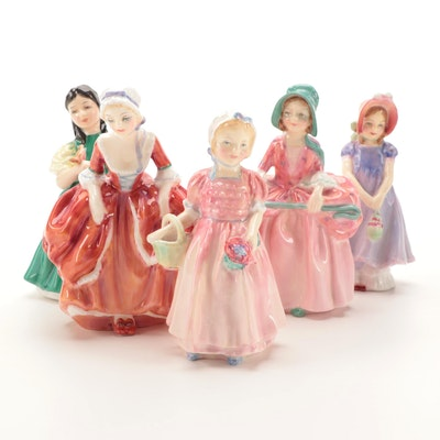 """Royal Doulton """"Ivy"""", """"Bo Peep"""", """"Goody Two Shoes"""" and Other Bone China Figurines"""