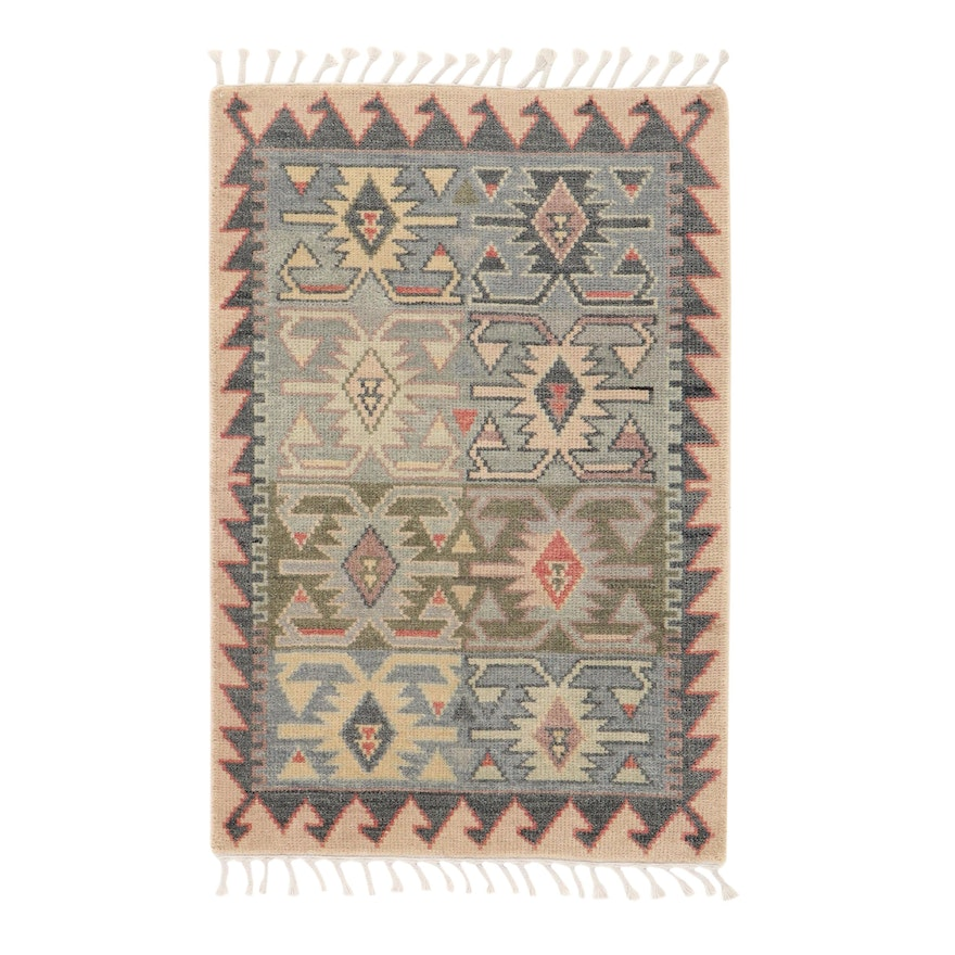 3'9 x 6'1 Hand-Knotted Indo-Moroccan Rug, 2010s