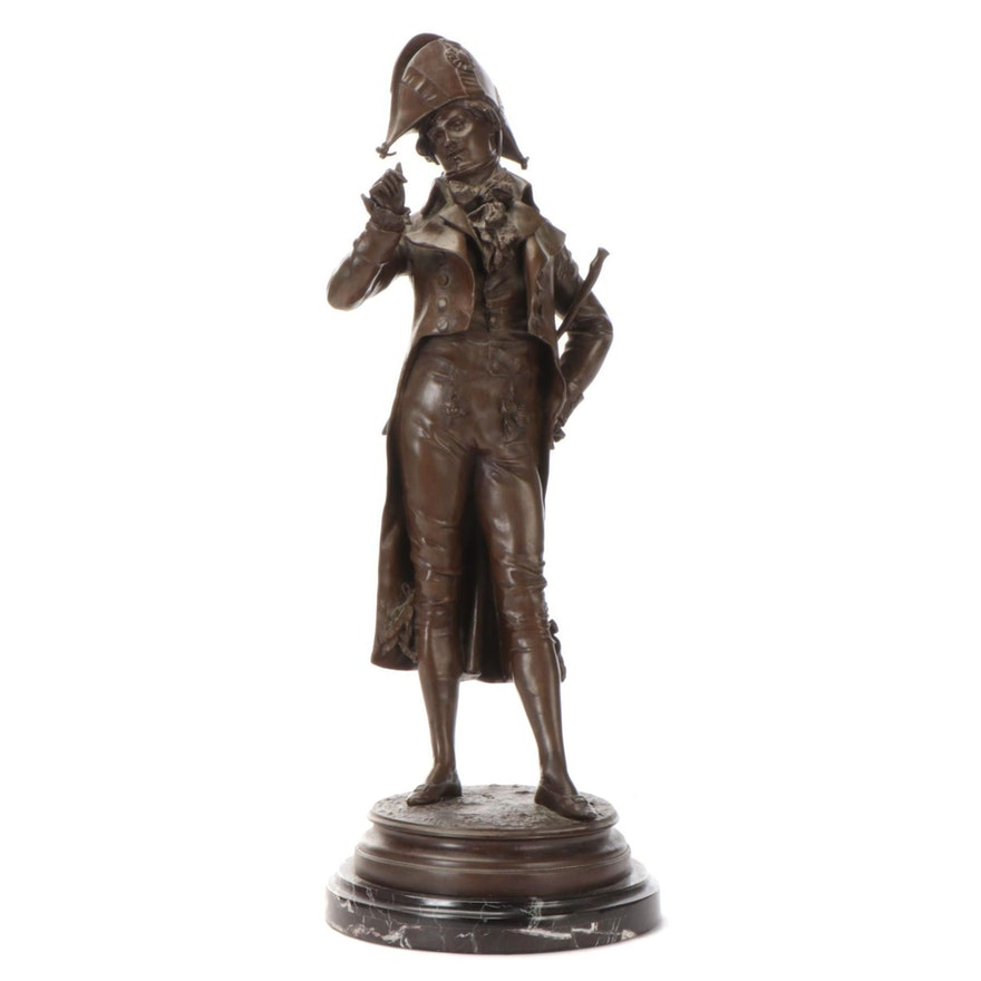 "Edouard Lormier Bronze Sculpture ""L'Incroyable"""