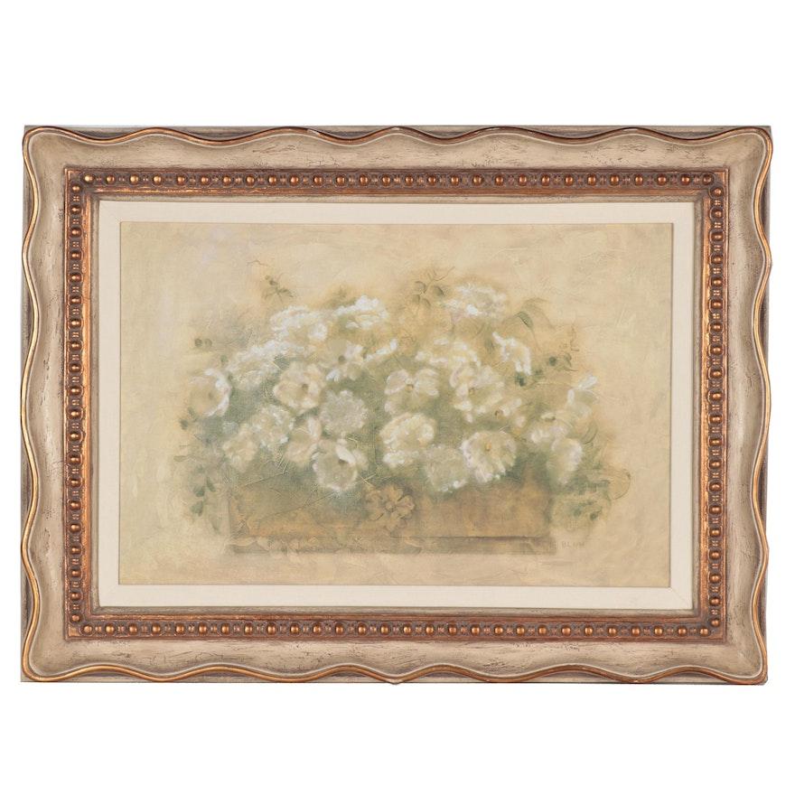 "Offset Lithograph after Cheri Blum ""White Floral Bouquet"""