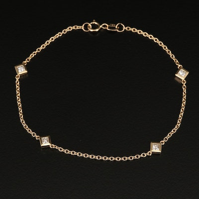 18K Diamond Station Bracelet