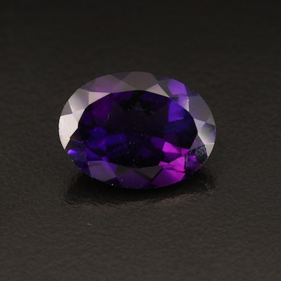 Loose 7.67 CT Oval Faceted Amethyst