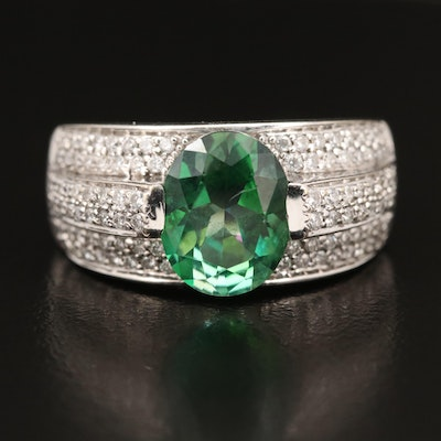 18K Mystic Topaz and Diamond Ring