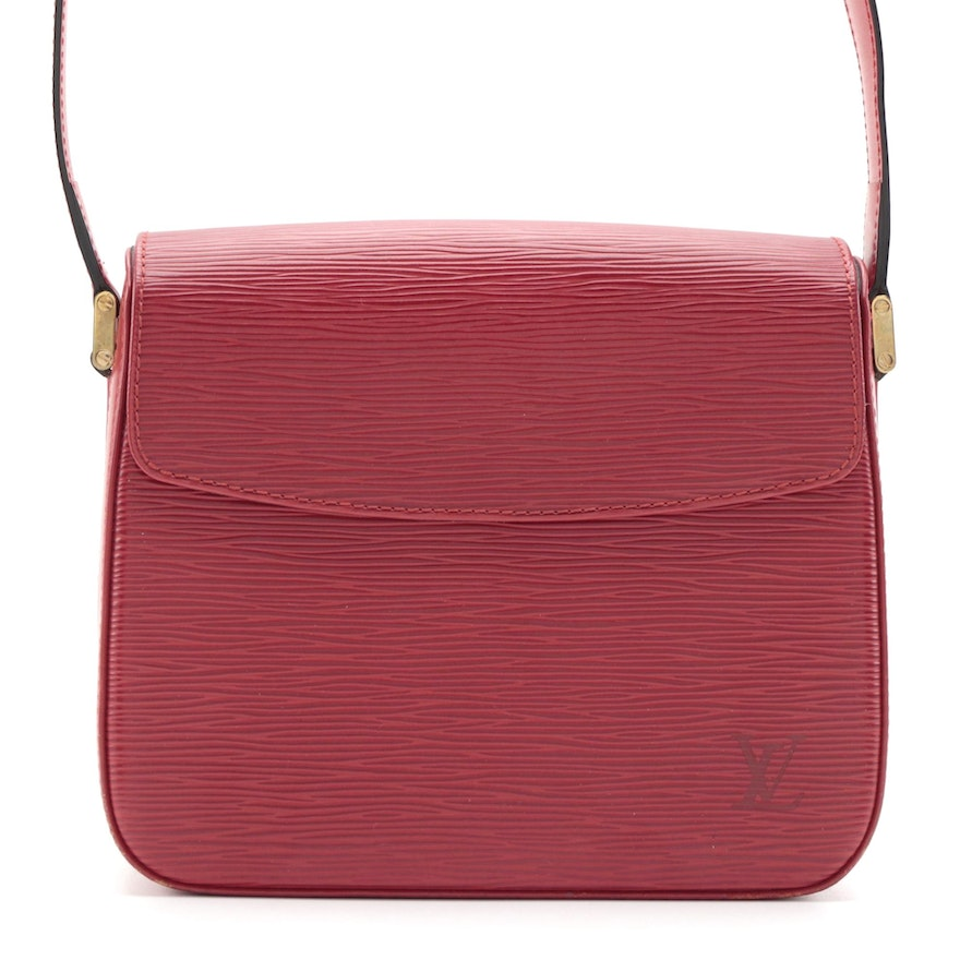 Louis Vuitton Buci Front Flap Bag in Castillian Red Epi and Smooth Leather