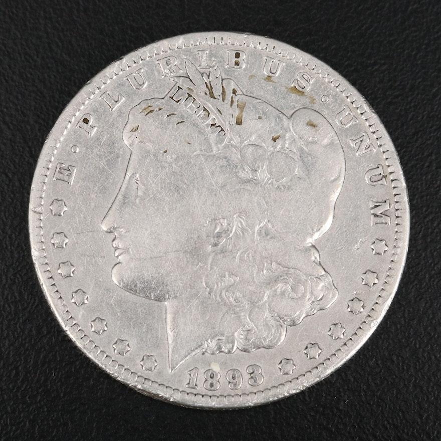 Key Date Low Mintage 1893-O Morgan Silver Dollar