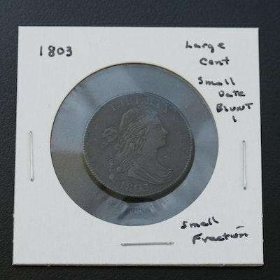 """1803 """"Small Date and Fraction, Blunt 1"""" Large Cent"""