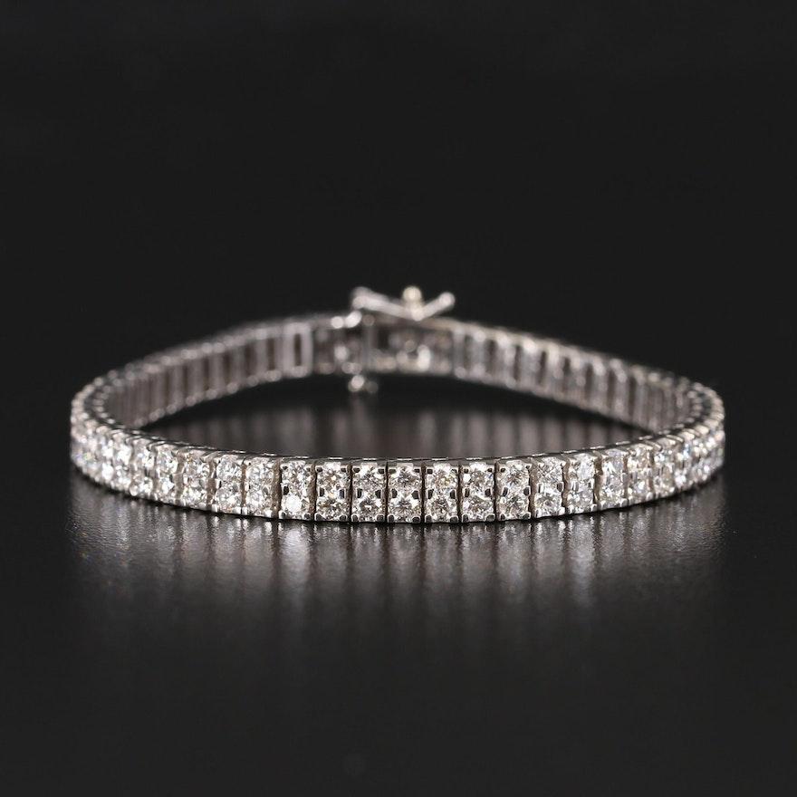 14K 8.91 CTW Diamond Double Row Line Bracelet