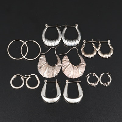 Sterling Hoop Earring Assortment